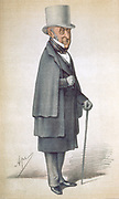 Roderick Impey Murchison (1792-1871) Scottish geologist He investigated old rocks beneath the red sandstone. He defined the Silurian (1835), Permian (c1845) and, in cooperation with Adam Sedgwick (1785-1873), the Devonian geological periods. Murchison became a Fellow of the Royal Society in 1826, President of the Royal Geographical Society in 1843 and was knighted in 1846. He was also Director-General of the (British) Geological Survey and Director of the Royal School of Mines. Cartoon from 'Vanity Fair'. (London, 26 November 1870).