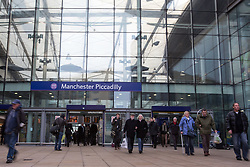 © Licensed to London News Pictures . 28/01/2013 . Manchester , UK . General view GV of Manchester Piccadilly train station as George Osborne, the British Chancellor of the Exchequer and MP for Tatton , visits  Manchester Piccadilly Train Station today (28th January 2013) as the government are due to reveal the proposed route for HS2 rail , linking Manchester , Leeds and Birmingham to London . Photo credit : Joel Goodman/LNP