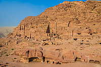 royal tombs in Nabatean Petra Jordan middle east
