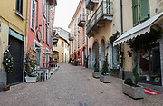 """Luino, Lombardia. ITALY.   """"Luino Old Town"""" narrow streets, hilly, situated, on the side of Lake Maggiore, Province of Varese.. ITALY <br /> <br /> Monday  02/01/2017  <br /> <br /> © Peter SPURRIER,<br /> <br /> <br /> LEICA CAMERA AG LEICA Q (Typ 116). ISO 100  f3.2  28mm"""