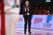 Attilio Caja <br /> VL Pesaro  - Openjobmetis Varese <br /> Lega Basket Serie A 2018/2019<br /> Pesaro 30/12/2018<br /> M..Ciaramicoli   Ciamillo Castoria