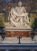 The Pietà is a work of Renaissance sculpture by Michelangelo Buonarroti, housed in St. Peter's Basilica, Vatican City