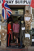 Army mannequins wearing historical and contemporary British uniforms, on 28th June 2019, in Coldstream, Scotland.