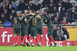 March 15, 2019 - Lille, France, FRANCE - joie des joueurs de Monaco apres le but de VINICIUS Carlos  (Credit Image: © Panoramic via ZUMA Press)