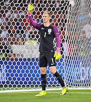 2016.06.20 Saint Etienne<br /> Pilka nozna Euro 2016<br /> mecz grupy B Slowacja - Anglia<br /> N/z Joe Hart<br /> Foto Norbert Barczyk / PressFocus<br /> <br /> 2016.06.20 Saint Etienne<br /> Football UEFA Euro 2016 group B game between Slovakia and England<br /> Joe Hart<br /> Credit: Norbert Barczyk / PressFocus