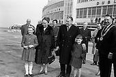 1964 - Taoiseach Sean Lemass leaves to open Irish Week at the London Office of Coras Trachtala