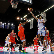 Anadolu Efes's Stratos Perperoglou (2ndR) during their Turkish Basketball League match Anadolu Efes between Banvit at Abdi Ipekci Arena in Istanbul Turkey on Sunday 29 March 2015. Photo by Aykut AKICI/TURKPIX