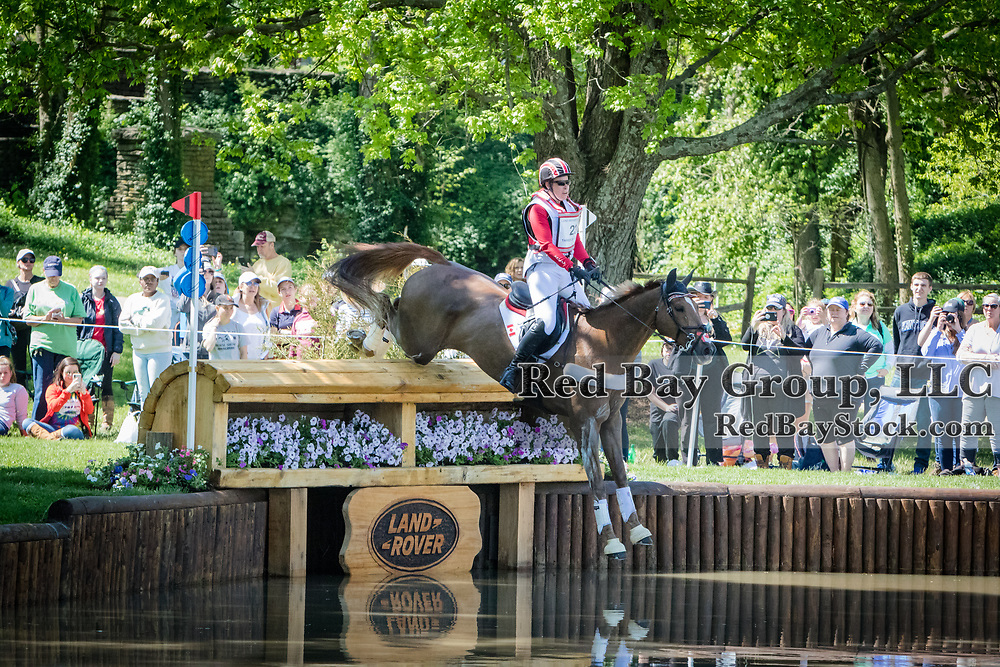 Lisa Marie Fergusson (CAN) and Honor Me during the cross-country at the 2019 Land Rover Kentucky Three-Day Event presented by MARS EQUESTRIAN in Lexington, Kentucky