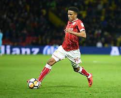 January 6, 2018 - Watford, England, United Kingdom - Bristol City's Niclas Eliasson ..during FA Cup 3rd Round match between Watford  and Bristol  City at Vicarage Road Stadium, Watford ,  England 06 Jan 2018. (Credit Image: © Kieran Galvin/NurPhoto via ZUMA Press)