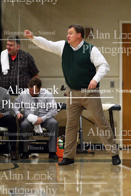 20 February 2016:  Ron Rose during an NCAA men's division 3 CCIW basketball game between the Elmhurst Bluejays and the Illinois Wesleyan Titans in Shirk Center, Bloomington IL