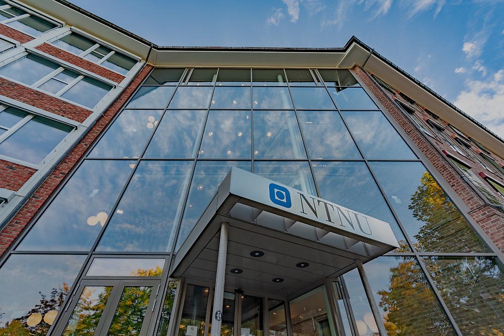 Gunnerusbygget, Gunnerus gate 1, huser NTNUs administrasjon, ledelse, Akademika Kalvskinnet og Sit Kafé Kalvskinnet.