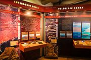 Interpretive display at the Yavapai Point Geology Museum, Grand Canyon National Park, Arizona USA