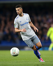 """Everton's Kevin Mirallas during the Carabao Cup, Fourth Round match at Stamford Bridge, London. PRESS ASSOCIATION Photo. Picture date: Wednesday October 25, 2017. See PA story SOCCER Chelsea. Photo credit should read: Nigel French/PA Wire. RESTRICTIONS: EDITORIAL USE ONLY No use with unauthorised audio, video, data, fixture lists, club/league logos or """"live"""" services. Online in-match use limited to 75 images, no video emulation. No use in betting, games or single club/league/player publications."""