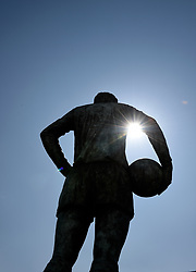 Peter Osgood statue in the spring sunshine