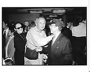 Roxanne Lowitt, Arthur Elgort and Francesco Scavullo. Alex Liberman book party. NY. 1993 approx. © Copyright Photograph by Dafydd Jones 66 Stockwell Park Rd. London SW9 0DA Tel 020 7733 0108 www.dafjones.com