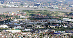 Image ©Licensed to i-Images Picture Agency. Aerial views. United Kingdom.<br /> Belmarsh prison facilities, located in the Thamesmead area of the Royal Borough of Greenwich, in south-east London. Picture by i-Images