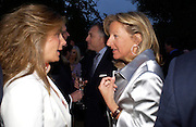 Marrianne Sachs and  Princess Chantal of Hanover. Cartier dinner after thecharity preview of the Chelsea Flower show. Chelsea Physic Garden. 23 May 2005. ONE TIME USE ONLY - DO NOT ARCHIVE  © Copyright Photograph by Dafydd Jones 66 Stockwell Park Rd. London SW9 0DA Tel 020 7733 0108 www.dafjones.com