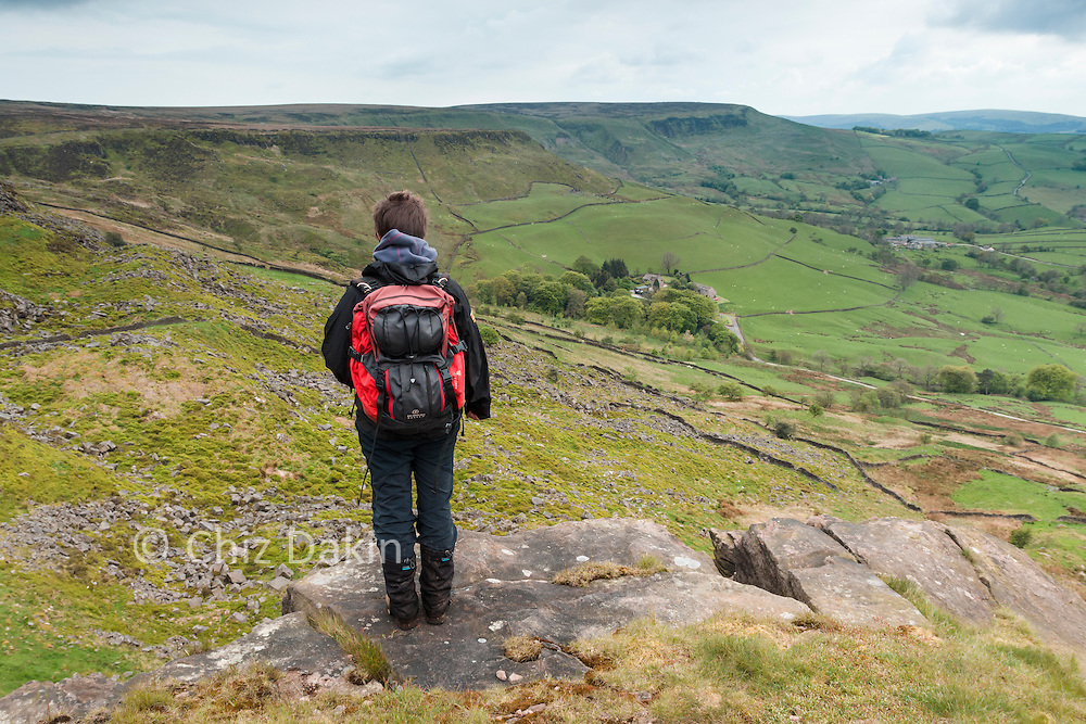 View along Combs Edge from Castle Naze