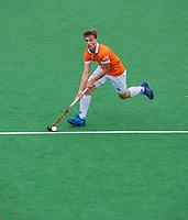 BLOEMENDAAL  -  Jorrit Croon (Bldaal) )  tijden de oefenwedstrijd Bloemendaal-Den Bosch (m) .  COPYRIGHT KOEN SUYK