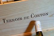 wooden case stamped terroir de corton dom m juillot mercurey burgundy france