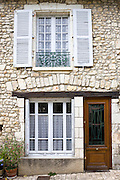 Typical French house in Angles Sur L'Anglin in the Dordogne, France