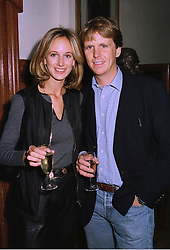 MR MOGENS THOLSTRUP and LADY VICTORIA HERVEY at a party in London on 7th October 1997.MBY 94