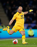 Pepe Reina of Aston Villa during the Premier League match at the King Power Stadium, Leicester. Picture date: 9th March 2020. Picture credit should read: Darren Staples/Sportimage
