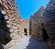 Picture and image of the interior courtyard of the prehistoric magalith ruins of Nuraghe Arrubiu ( Red Nuraghe), archaeological site, Bronze age (14 -9 th century BC). The Nuraghe Arrubiu is one of the ;argest Nuraghe on Sardinia with a central fortification which had 5 towers reacing 35 -30 mteres high. Orroli, Southern Sardinia. .<br /> <br /> If you prefer to buy from our ALAMY PHOTO LIBRARY  Collection visit : https://www.alamy.com/portfolio/paul-williams-funkystock/nuraghe-arrubiu-sardinia.html<br /> Visit our PREHISTORIC PLACES PHOTO COLLECTIONS for more   photos  to download or buy as prints https://funkystock.photoshelter.com/gallery-collection/Prehistoric-Neolithic-Sites-Art-Artefacts-Pictures-Photos/C0000tfxw63zrUT4