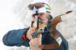 Joze Mehle of Slovenian Men Biathlon Team at Dachstein glacier before new season 2008/2009, Austria, on October 30, 2008.  (Photo by Vid Ponikvar / Sportida)