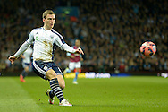 Craig Gardner of West Bromwich Albion crossing the ball. The FA cup, 6th round match, Aston Villa v West Bromwich Albion at Villa Park in Birmingham, Midlands on Saturday 7th March 2015<br /> pic by John Patrick Fletcher, Andrew Orchard sports photography.