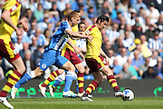 Burnley midfielder Joey Barton (13) during the Sky Bet Championship match between Brighton and Hove Albion and Burnley at the American Express Community Stadium, Brighton and Hove, England on 2 April 2016.