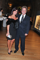 Football agent BARRY SILKMAN and ANGELA HANCOCK at the annual Chain of Hope's annual Gala Ball held at the Natural History Museum, London on 8th November 2012.
