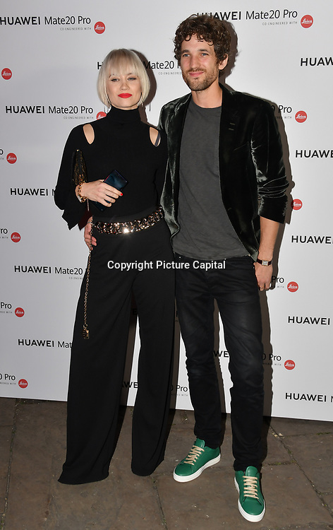 Kimberly Wyatt and Max Rogers attend Huawei - VIP celebration at One Marylebone London, UK. 16 October 2018.