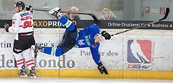 11.02.2016, Olympiaworld, Innsbruck, AUT, Euro Ice Hockey Challenge, Österreich vs Slowenien, im Bild v.l.: Alexander Pallestrang (AUT) und Gregor Koblar (SLO) // f.l.: Alexander Pallestrang of Austria and Gregor Koblar of Slowenia during the Euro Icehockey Challenge Match between Austria and Slovenia at the Olympiaworld in Innsbruck, Austria on 2016/02/11. EXPA Pictures © 2016, PhotoCredit: EXPA/ Jakob Gruber