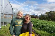 Donna Rae Faulkner och Don McNamara at the Ocenside Farms in Homer, Alaska, USA.<br /> <br /> Photographer: Christina Sjögren<br /> <br /> Copyright 2019, All Rights Reserved