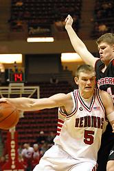 ISU's Andy Strandmark cuts to the hoop.