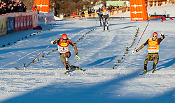 27.01.2017, Casino Arena, Seefeld, AUT, FIS Weltcup Nordische Kombination, Seefeld Triple, Langlauf, im Bild v.l.: Johannes Rydzek (GER), Eric Frenzel (GER) // f.l.: Johannes Rydzek of Germany Eric Frenzel of Germany during Cross Country 5 km Gundersen Race of the FIS Nordic Combined World Cup Seefeld Triple at the Casino Arena in Seefeld, Austria on 2017/01/27. EXPA Pictures © 2017, PhotoCredit: EXPA/ JFK