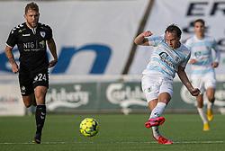 Frederik Bay (FC Helsingør) under kampen i 1. Division mellem FC Helsingør og Kolding IF den 24. oktober 2020 på Helsingør Stadion (Foto: Claus Birch).