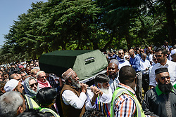 JOHANNESBURG, March 29, 2017  People carry the coffin of Ahmed Kathrada to the grave during his funeral at Westpark Cemetery in Johannesburg, South Africa, on March 29, 2017. South African anti-apartheid stalwart Ahmed Kathrada died in the early hours of Tuesday morning at the age of 87.  sxk) (Credit Image: © Zhai Jianlan/Xinhua via ZUMA Wire)