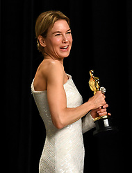 Renee Zellweger with her Best Actress Oscar in the press room at the 92nd Academy Awards held at the Dolby Theatre in Hollywood, Los Angeles, USA.