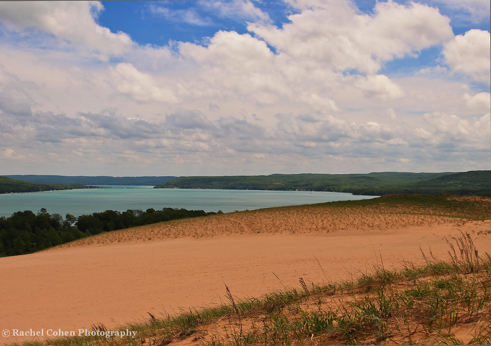 """""""View from the Climb"""" 2<br /> <br /> Scenic view of Glen Lake from the Dunes at Sleeping Bear Dunes National Lake Shore."""
