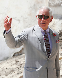 The Prince of Wales, during a visit to Osu Castle, also known as Fort Christiansborg in Accra, Ghana, on day four of his trip to west Africa with the Duchess of Cornwall.
