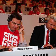 NLD/Hilversum/20100121 - Benefietactie voor het door een aardbeving getroffen Haiti, Andre Rouvoet en Geert Wilders