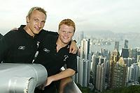 Fotball<br /> England <br /> Foto: Propaganda/Digitalsport<br /> NORWAY ONLY<br /> <br /> Liverpool's Sami Hyypia (l) and John Arne Riise (r) enjoy the views of Hong Kong at Victoria Peak, Hong Kong, China. Saturday, July 26th, 2003.