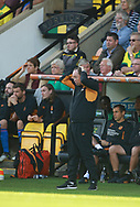 Hull City's manager Leonid Slutsky during the EFL Sky Bet Championship match between Norwich City and Hull City at Carrow Road, Norwich, England on 14 October 2017. Photo by John Marsh.