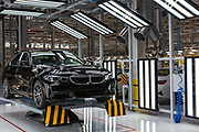 SAN LUIS POTOSI, MEXICO - JUNE 13, 2019: Vehicle in the supervision area in the BMW vehicles production plant in Mexico.