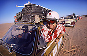 Oz from Extreme Trifle in the Sahara Desert during teh Plymouth Dakar Rally