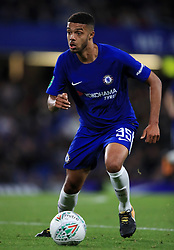 """Chelsea's Jake Clarke-Salter during the Carabao Cup, Third Round match at Stamford Bridge, London. PRESS ASSOCIATION Photo. Picture date: Wednesday September 20, 2017. See PA story SOCCER Chelsea. Photo credit should read: Mike Egerton/PA Wire. RESTRICTIONS: EDITORIAL USE ONLY No use with unauthorised audio, video, data, fixture lists, club/league logos or """"live"""" services. Online in-match use limited to 75 images, no video emulation. No use in betting, games or single club/league/player publications."""