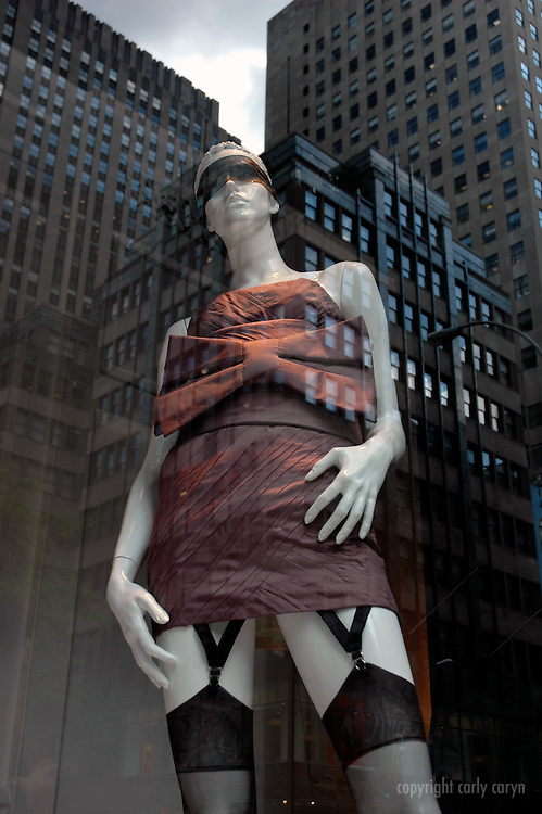 Blindfold and stockings, Saks Fifth Ave, Spring 2009