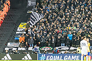 Juventus fans during the Champions League match between Tottenham Hotspur and Juventus FC at Wembley Stadium, London, England on 7 March 2018. Picture by Toyin Oshodi.